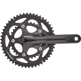 Shimano Road FC-RS400 Crankset 2x10-speed, 50-34 tanden, black